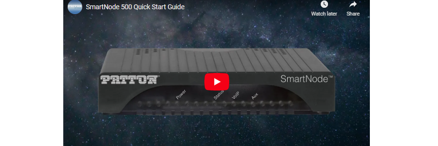 SN500 Quick Start Video